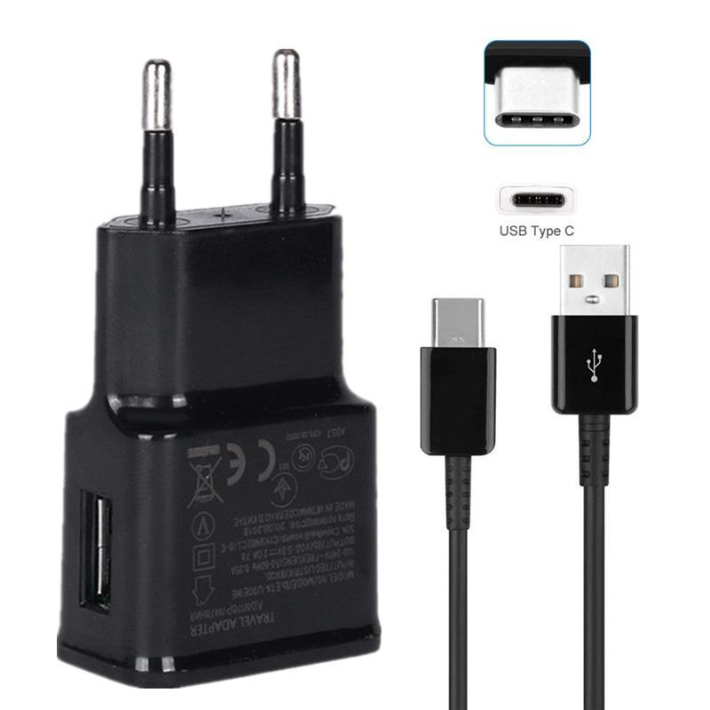 Schnelle Ladegerät <font><b>USB</b></font> Typ-C Quick Charge Power Adapter für Galaxy S10e S10 Plus S9 S8 Hinweis 8 <font><b>9</b></font> 10 A20E A40 A50 Ladekabel Kabel image