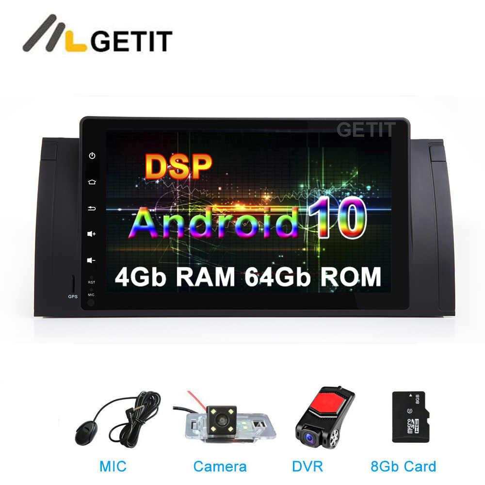 """9 """"アンドロイド 10 車の Dvd マルチメディアステレオラジオ GPS E39 E53 M5 無線 lan BT"""