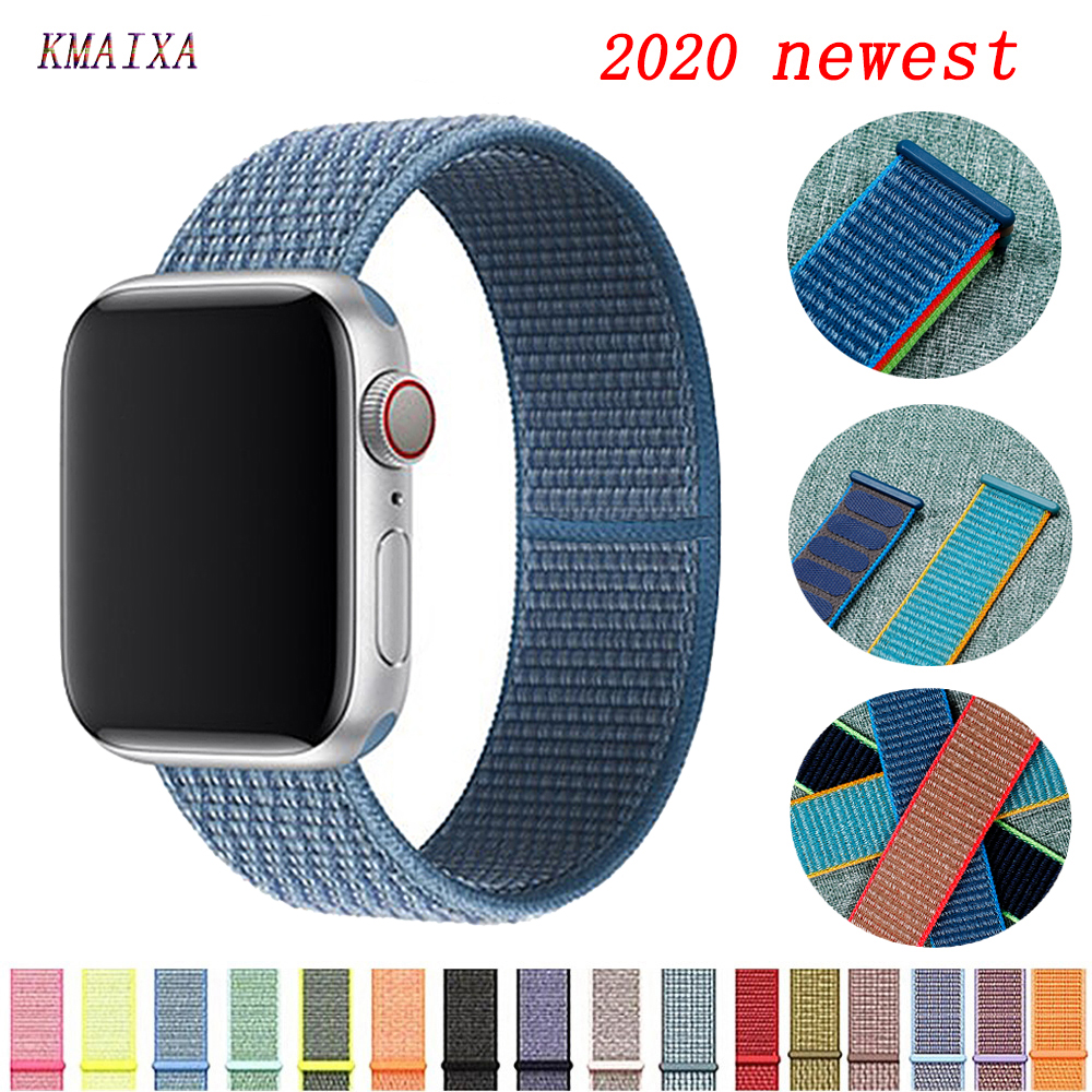 Strap For Apple Watch Band 44 Mm 40mm Nylon Bracelet Watchband Correa Pulseira Apple Watch Series 5 4 3 2 Iwatch Band 42mm 38mm
