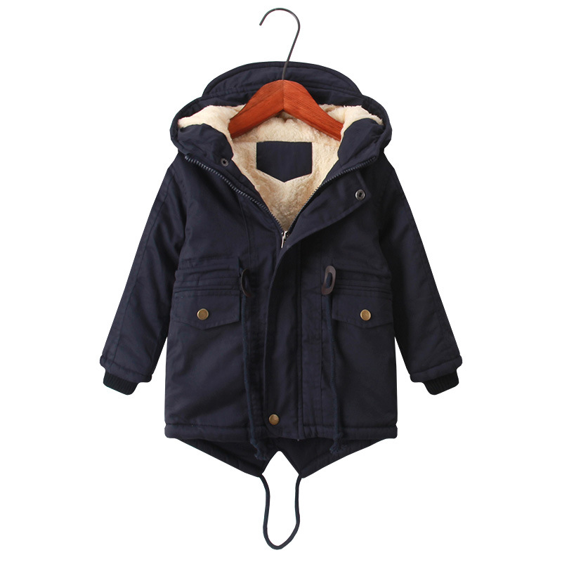 New Winter Children Down & Parkas 3-10Y European Style Boys Girls Warm Outerwear Windproof Hooded Coats For Kids Winter Clothing