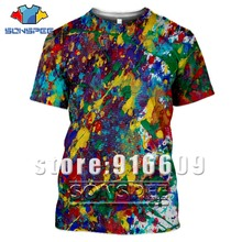Hot Sale Paint Summer Anime T-shirt Psychedelic Tees 3D Prin