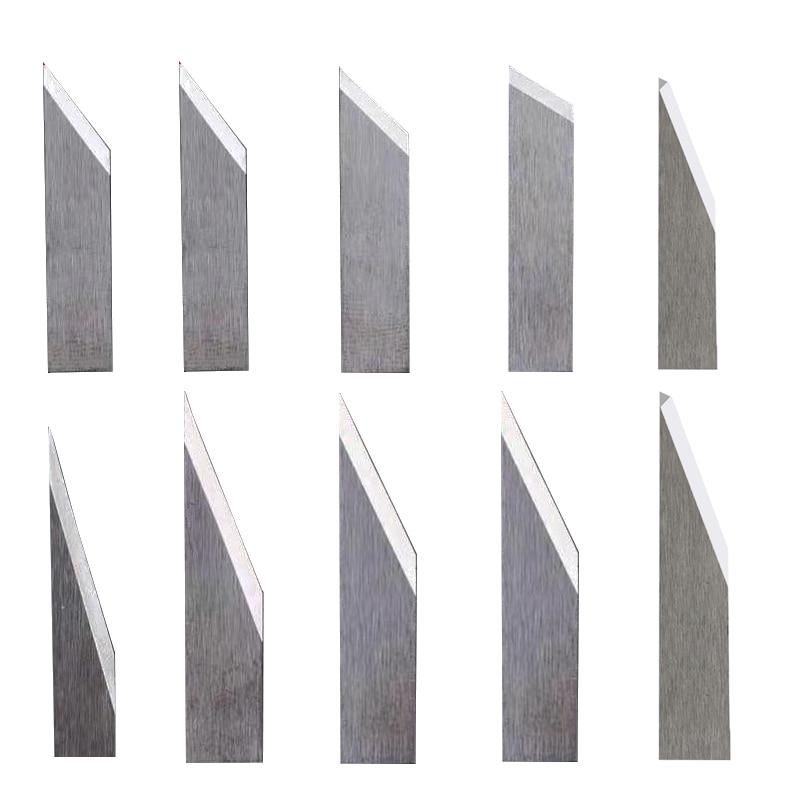 10pc Jingwei Rui Zhou Aoke IECHO ZUND RZCUT AOL Vibration Knife Cutting Machine Blade Cutter Head 16-60 Degree CNC Leather Blade