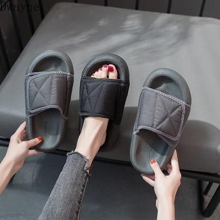 Zapatillas de verano antideslizantes para mujer, zapatillas planas con red de moda coreana, sandalias y zapatillas rojas Nuevas zapatillas tejidas de moda para mujer, zapatos planos casuales con punta cuadrada, chanclas de verano 2020 para mujer, sandalias para playa, zapatillas de talla grande 41