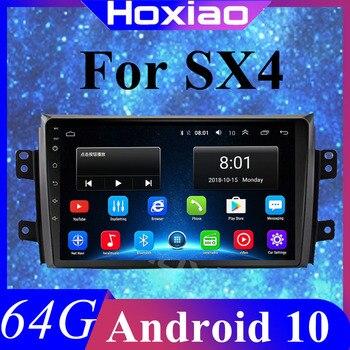 """2 דין רכב אנדרואיד רדיו מולטימדיה נגן לסוזוקי SX4 2006-2013 Quad Core 9 """"1024*600 bluetooth 2 דין DVD לרכב GPS ניווט"""