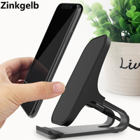 Desktop Wireless Phone Charger Metal Stand Holder for Xiaomi mi9 10W Fast Charge Qi Wireless Charger for Samsung S10 S9 S8 Plus