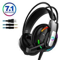 PS4 Gaming casque écouteur 7.1 canal stéréo casque suppression du bruit avec Microphone pour nouveau Xbox One/ordinateur portable/PC tablette jeu