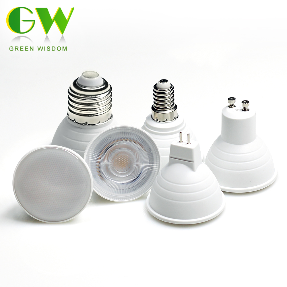 LED Lamp MR16 GU10 E27 E14 LED Bulb 6W 220V COB Chip LED Spotlight Bulbs For Downlight Table Lamp Energy Saving Home Lighting