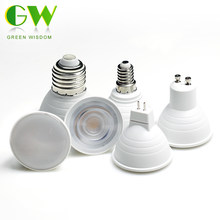 Lampe à LED MR16 GU10 E27 E14 LED ampoule 6W 220V COB puce LED ampoules de projecteur pour Downlight lampe de Table économie d'énergie éclairage à la maison(China)
