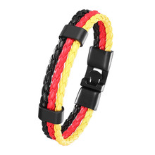 new fashion DIY leather bracelets brand multilayer bandage Germany flag strands friendship bracelet for men.2020 ff150r12ks4 ff200r12ke4 brand new original germany 17 vat invoice