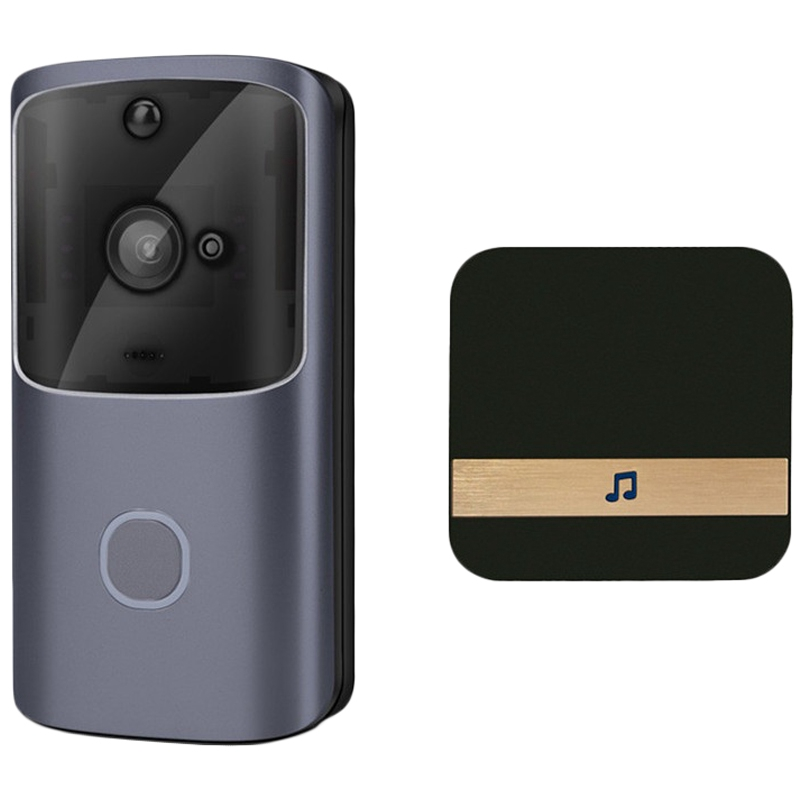 M10 720P Wifi Intelligent Video Doorbell Camera App Control Remote Monitoring Video Intercom Doorbell Machine Set Eu Plug