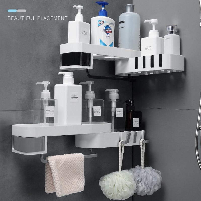 ONEUP Corner Shower Shelf Bathroom Shampoo Shower Shelf Holder Kitchen Storage Rack Organizer Wall Mounted Bathroom Accessories 2