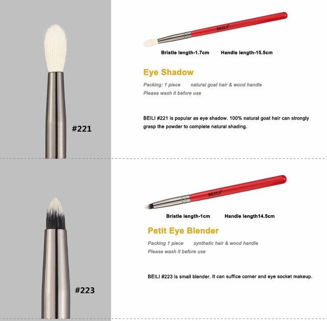 BEILI Makeup Brush 1PCS Professional Natural Hair Eye Shadow Brush Blender Crease Makeup Cosmetics 228/221/222/223/235/134/225 2