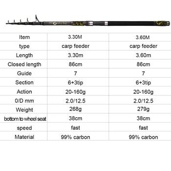 100% Original Best Fishing rod telescopic Fishing Rods cb5feb1b7314637725a2e7: 3.30m|3.60m