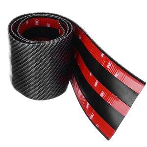 Image 5 - 3cm 5cm 7cm 10cm Carbon Faser Gummi Weiche Stoßstange Streifen DIY Einstiegsleisten Rand Schutz auto Aufkleber Auto Styling Zubehör