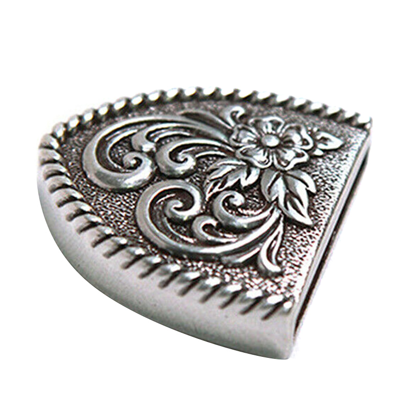 Western Retro Floral Engraved Antique Belt Buckle Set 3pcs Fits 38mm Belt Decor SSA-19ING