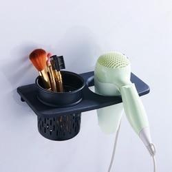 Gorąca sprzedaż uchwyt do przechowywania w łazience suszarka do włosów suszarka uchwyt na grzebień stojak zestaw organizer łazienkowy akcesoria łazienkowe w Półki i stojaki od Dom i ogród na