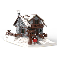 MOC 38793 Winter Chalet Neige Chalet Resort Christmas Construction Building Blocks Bricks Toys For Children Kids Gifts