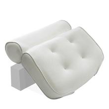 Утолщенная подушка для ванны, мягкий Спа Подголовник, подушка для ванны со спинкой на присоске, подушка для шеи, аксессуары для ванной комнаты