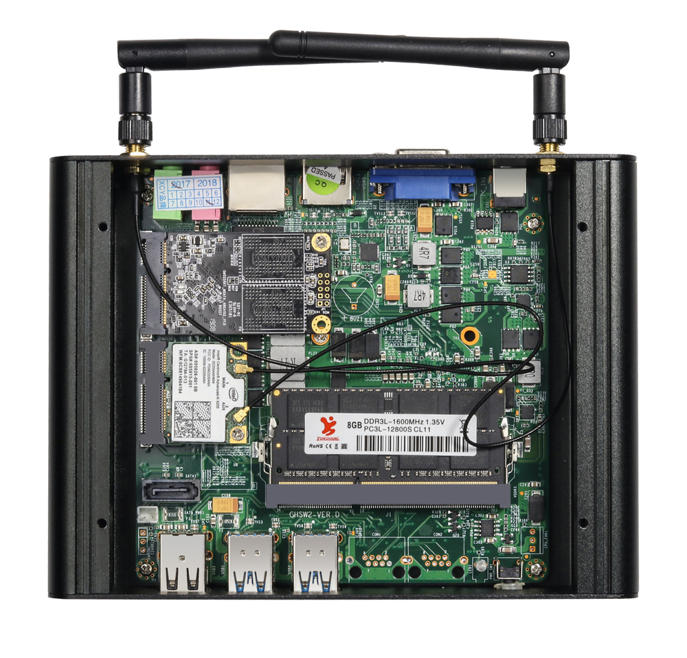 BEBEPC Mini PC Core i7 7500U i5 7200U i3 7100U Windows 10 Compact Desktop PC 4K UHD HTPC HDMI 300M WiFi 6xUSB Micro Computer-5