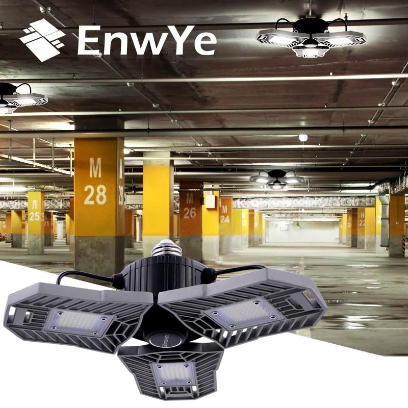 EnwYe E27 LED Bulb 60W High 6000Lm Intensity Deformable Lamp SMD2835 110V 220V For Indoor Parking Led Mining Lamp