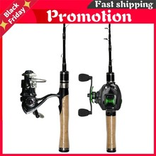 Canne à pêche Spinning télescopique ultralégère de 1.25 ou 1.5 m, accessoire de voyage en carbone adapté à la truite, adapté à un poids de leurre de 2 à 7 g