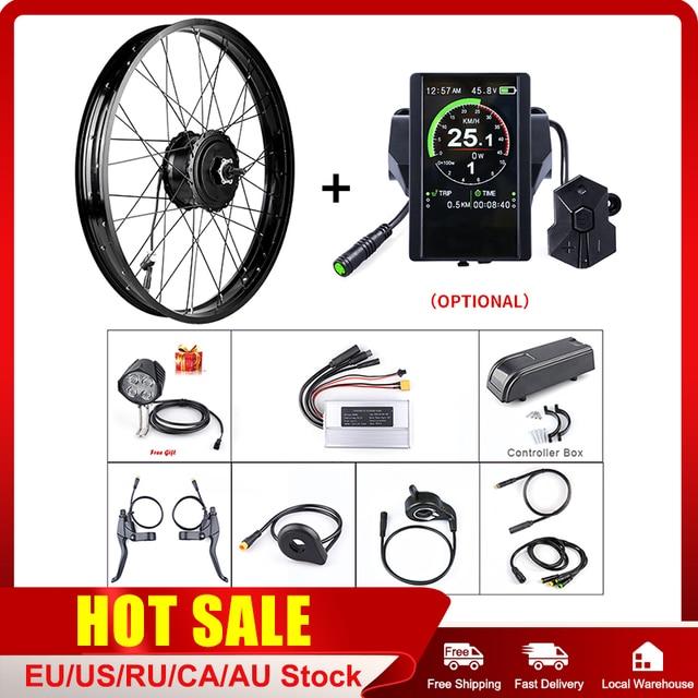 """Fat e bike Bafang 48V 750W tylne 20 """"26"""" silnik piasty koła elektryczne śnieg zestawy do konwersji rowerów DIY DC kaseta potężny silnik"""
