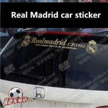 Real Madrid car stickers rear window glass fans supplies