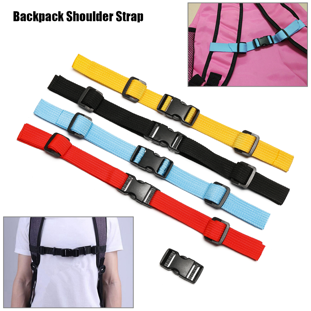 1PC Nylon 4 Colors Sternum Harness Fixed Belt Strap+Dual Release Adjustable Buckle Outdoor Camping Tactical Backpack Accessories