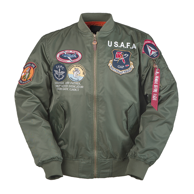 2019aw Vintage USAFA Men Thin Clothes Brands Military Air Force One Top Gun Army USN MA1 USMC Bomber Flihgt Jacket Pilot Ma1