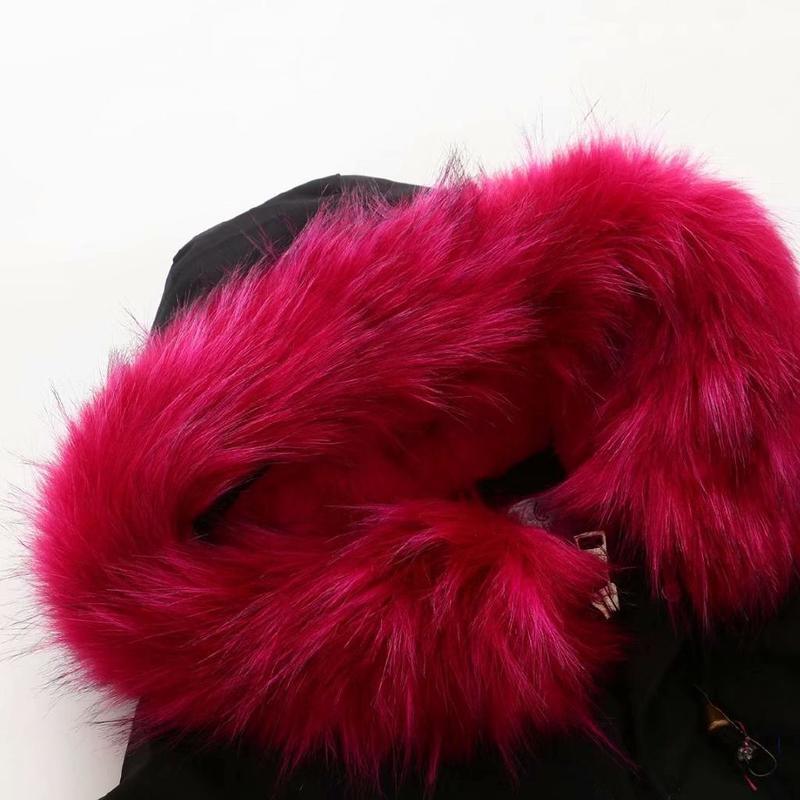Зимняя женская куртка размера плюс, теплая, до колена, с капюшоном, с хлопковой подкладкой, куртки для женщин, Утолщенные, Длинные парки, верхняя одежда - 3