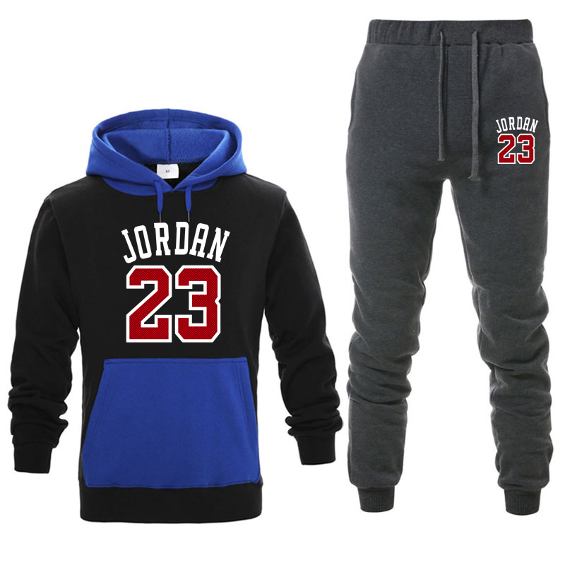 Men's Sets Sportswear Thick Hoodie+Pants Sport Suits Casual Sweatshirts 23 Tracksuit Male Sportswear Fitness trouser