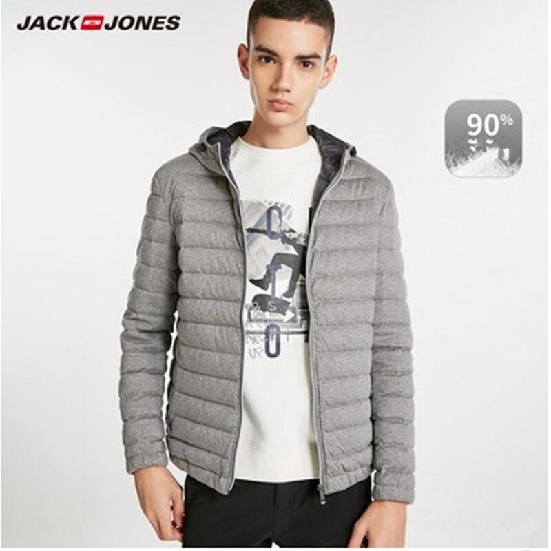 2020 Winter Men Down Jacket JackJones Men's Hooded Short Down Jacket Parka Coat Outerwear Menswear 218312501