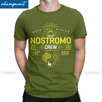 Nostromo-camisetas de película extraterrestre para hombre, Camiseta de cuello redondo Retro de...