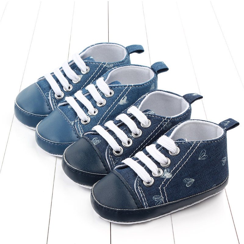 New Canvas Baby Sports Sneakers Shoes Newborn Baby Boys Girls First Walkers Shoes Infant Toddler Soft Sole Anti-slip Baby Shoes