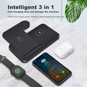 Image 5 - 15W Qi Drahtlose Ladestation für iPhone 12 11 XS XR X 8 3 in 1 Schnelle Lade Dock station Für Apple Uhr iwatch 6 SE 5 4 3 2