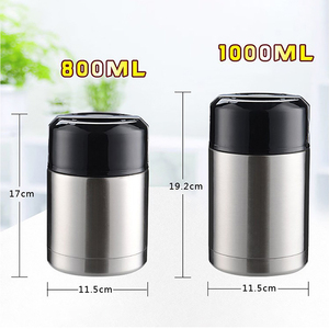 Image 5 - ONEUP Large Capacity 800ML/1000ML Double Stainless Thermos Lunch Box 2019 Vacuum Flasks Portable Lunch Bento Box Food Container