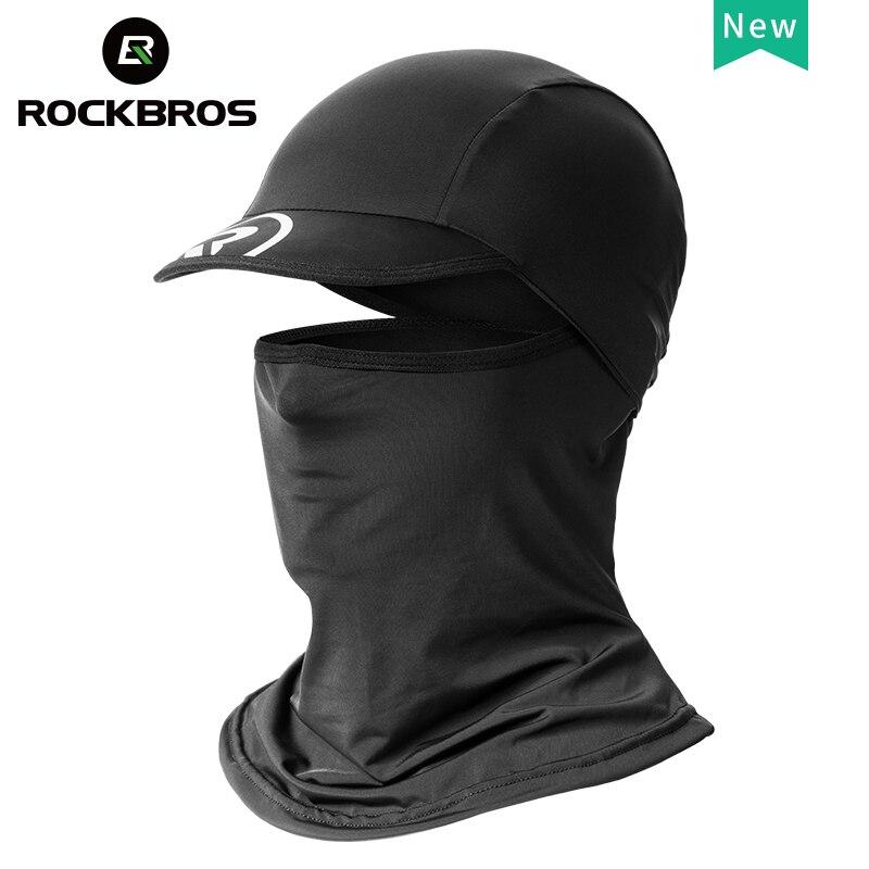 ROCKBROS-Gorra protectora solar para ciclismo, de seda fría, con sombrero antirrayos UV, para deportes al aire libre o pesca en motocicleta