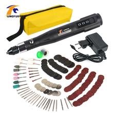 Mini amoladora de taladro rotativa eléctrica con 288 Uds. Accesorios de brocas de perforación 15000RPM Kit de herramientas de lijado de pulido para herramienta dremel