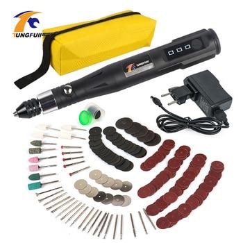 цена на Mini Electric Rotary Drill Grinder With 288pcs Dril Bits Accessories 15000RPM Polish Sanding Tool Set Kit For Dremel Tool