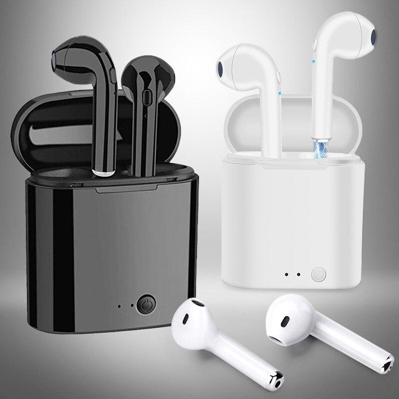 Беспроводные наушники i7s TWS Bluetooth 5,0, спортивные наушники-вкладыши, гарнитура с микрофоном для смартфона Xiaomi Samsung Huawei LG