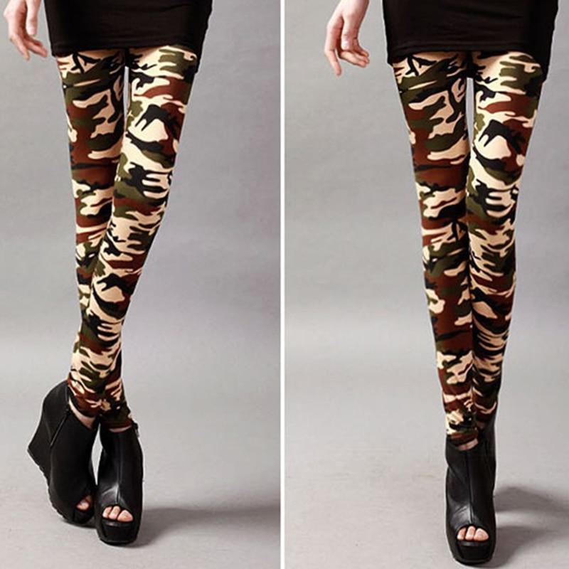 1pc New Fashion Women Leggings High Elastic Skinny Camouflage Print Spring Summer Slimming Women Leggins Fitness Leggings