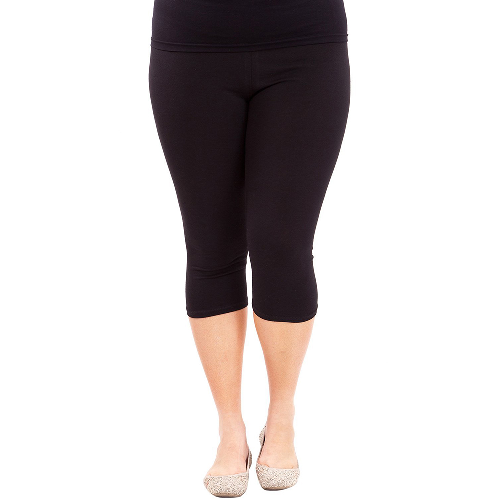 Mallas de entrenamiento para mujer, Leggings de talla grande, algodón, cintura elástica, informales, primavera, verano