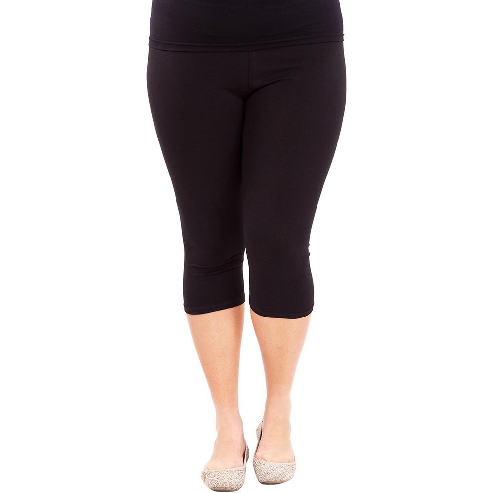 Hot Women Leggings Workout Plus size Leggings Cotton Elastic Waist Casual Solid Spring Summer Modal Leggings Stretch Pants Cheap|Leggings| - AliExpress