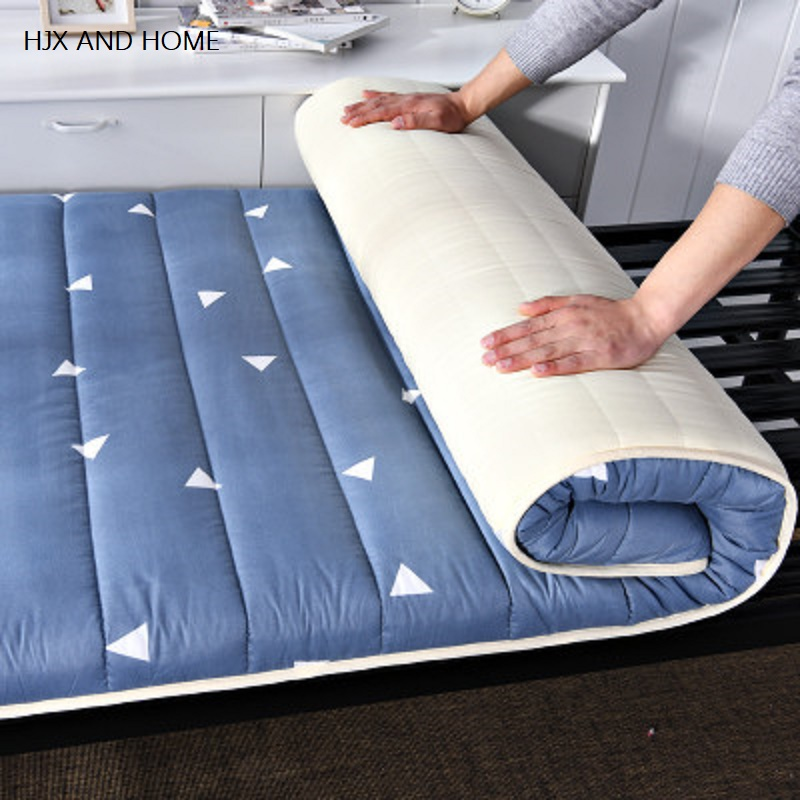 HJX Suitable For Student Dormitory Mattresses Comfortable Fabric Medium Thickness Foldable Mats  Folding Bed Product