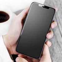Protector de pantalla para iPhone, vidrio templado mate 9H para iPhone X XS XR 11 12 mini Pro Max, antihuella dactilar, 2 uds., 1 ud.