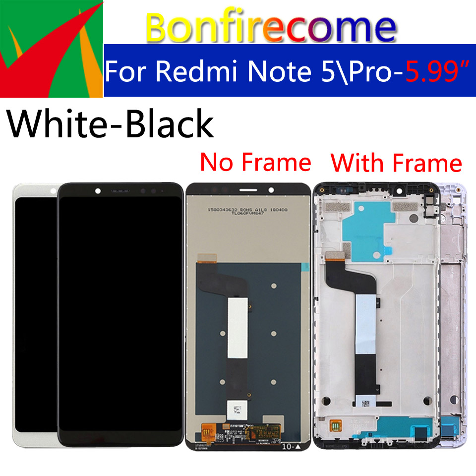 "Image 2 - 5.99"" Original For Xiaomi Redmi Note 5 LCD Screen Display With Frame + Touch Screen Panel Digitizer For Xiaomi Redmi Note 5 ProMobile Phone LCD Screens   -"