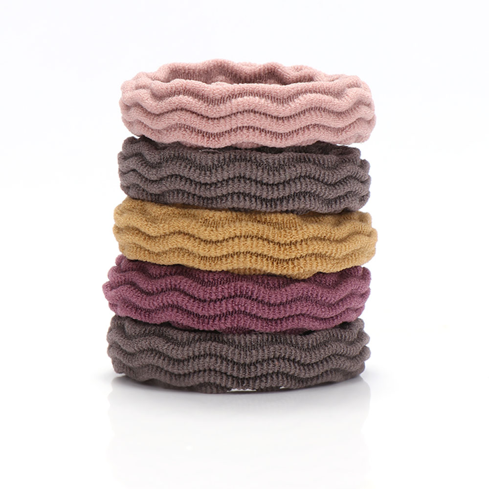 New 5PCS Women Girls Simple Basic Elastic Hair Bands Tie Gum Scrunchie Ponytail Holder Rubber Bands Fashion Hair Accessories