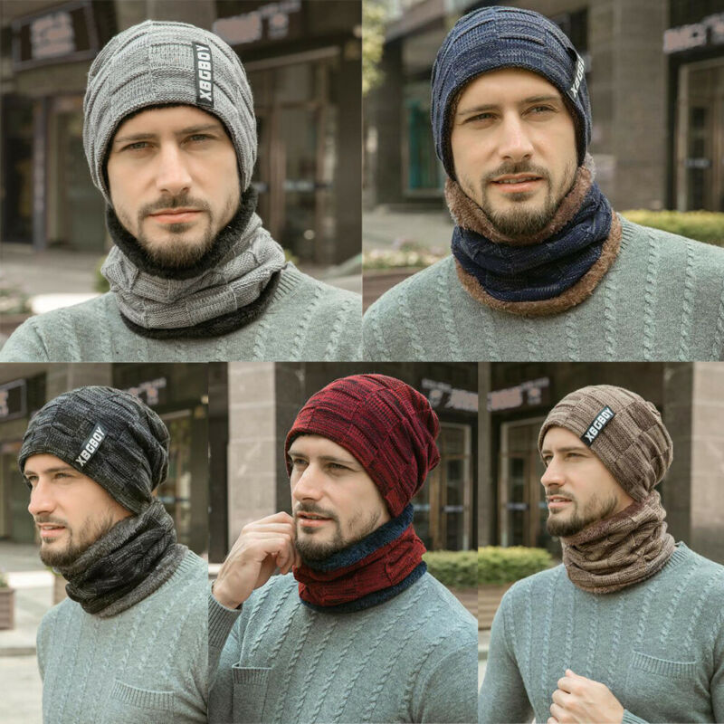2pcs Winter Hot Fashion Hat Scarf Set Winter Hat Skullies Beanies Hats Warm Beanies For Men Women Wool Scarf Caps