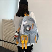 Корейские женские рюкзаки в стиле преппи цветная нейлоновая
