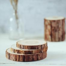 Naturalnie drewniane Coaster drewniany plasterek mata na kubki wesele dekoracja żywności fotografia rekwizyty